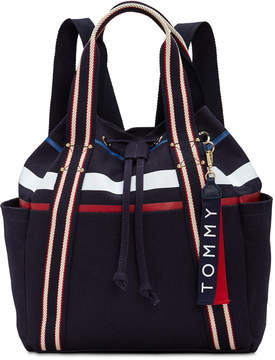 Tommy Hilfiger Classic Tommy Canvas Drawstring Backpack