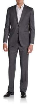 Saks Fifth Avenue BLACK Slim-Fit Pinstriped Wool & Silk Suit