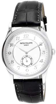 Patek Philippe Calatrava 5196P-001 Platinum / Leather 37mm Mens Watch