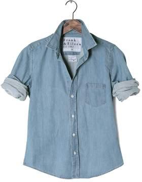 Frank And Eileen Womens Barry Stonewashed Indigo Shirt