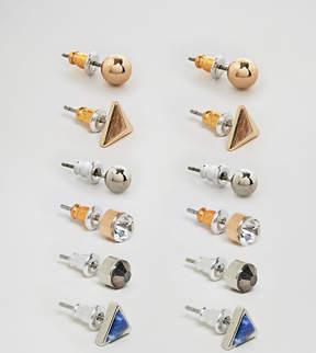 Reclaimed Vintage Inspired Stud Earrings In 6 Pack Exclusive To ASOS