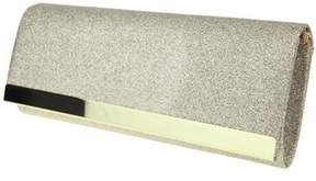 Nina Labella Glitter Clutch Metal Bar Clutch.