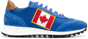 DSQUARED2 Canadian flag patch sneakers