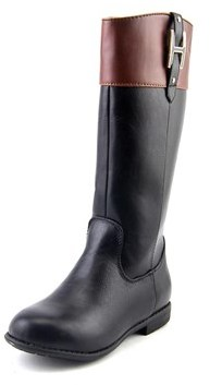 Tommy Hilfiger Andrea Charm Youth Round Toe Synthetic Black Knee High Boot.