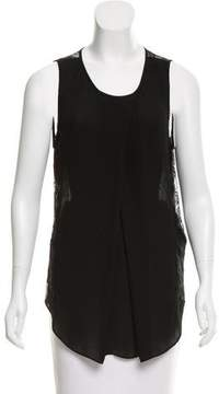 By Malene Birger Sleeveless Lace-Trimmed Top