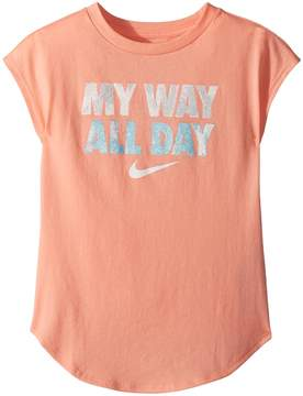 Nike I Want It All Modern Short Sleeve Tee Girl's T Shirt