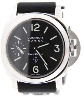 Panerai PAM318 Luminor Marina Logo Brooklyn Bridge Stainless Steel Watch