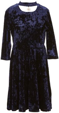 Xtraordinary Big Girls 7-16 Velvet Gigi-Neck Dress