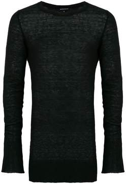 Ann Demeulemeester raw edge oversized sweater