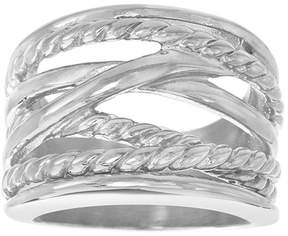 Bliss Stainless Steel Twist Ring