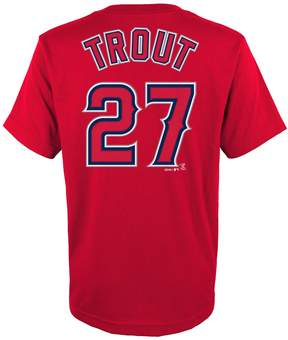 Majestic Boys 4-18 Los Angeles Angels of Anaheim Mike Trout Player Name and Number Tee