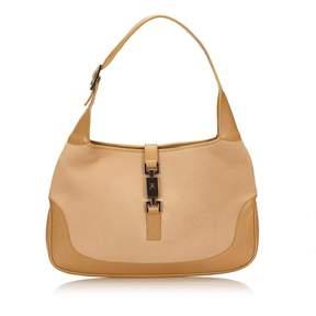 Gucci Jackie wool handbag - BROWN - STYLE
