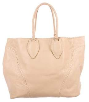 Alaia Grained Leather Tote