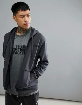 The North Face Open Gate Full Zip Hoodie Lightweight In Dark Gray