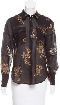 Belstaff Wool Floral Print Button-Up