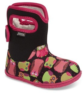 Bogs Infant Boy's Baby Classic Owls Insulated Waterproof Boot