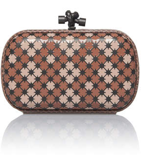 Bottega Veneta Mini Knot Enamel Clutch with Ayers Trim
