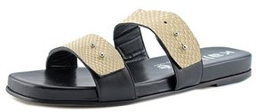 Kalliste 5955 Women Open Toe Leather Nude Slides Sandal.