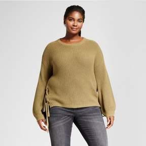 Ava & Viv Women's Plus Size Side Lace-Up Sweater
