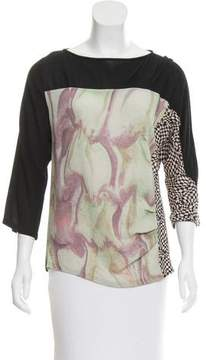 Dries Van Noten Printed Long Sleeve Top