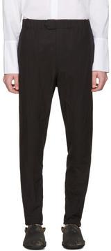 Ann Demeulemeester Black Elasticized Waistband Trousers