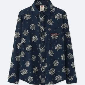 Uniqlo Boy's Disney Flannel Long-sleeve Shirt