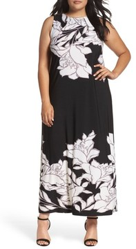 Evans Plus Size Women's Floral Border Maxi Dress