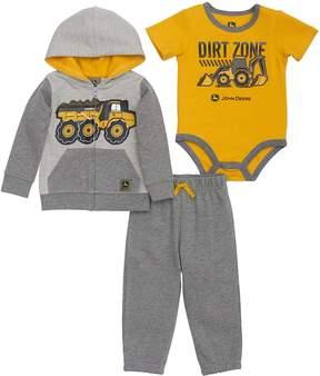 John Deere Baby Boy Dump Truck Dirt Zone Zip Hoodie