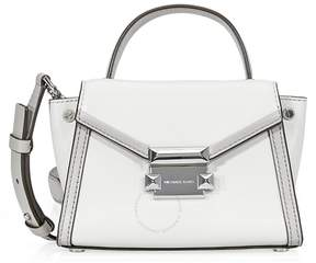 Michael Kors Whitney Leather Crossbody Bag- Aluminum/Pearl Grey - ONE COLOR - STYLE