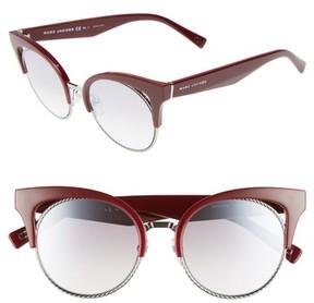 Marc Jacobs Women's 51Mm Gradient Lens Cat Eye Sunglasses - Opal/ Burgundy