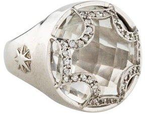 Elizabeth Showers Rock Crystal Maltese Ring