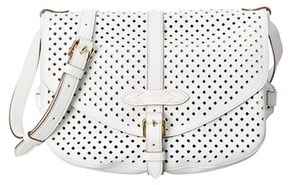 Louis Vuitton White Perforated Leather Saumur 30. - NO COLOR - STYLE