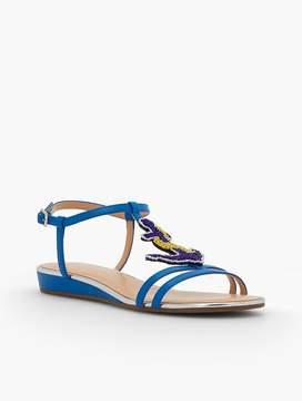 Talbots Daisy Micro-Wedge Sandals - Anchor Embellishment
