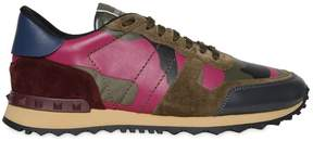 Valentino Rockrunner Canvas & Leather Sneakers