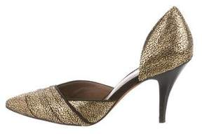 Donald J Pliner Metallic d'Orsay Pumps