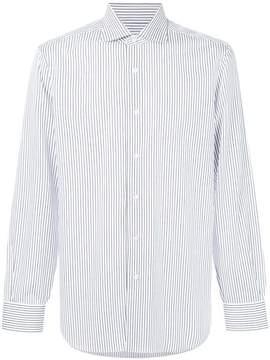 Barba long sleeved stripe shirt