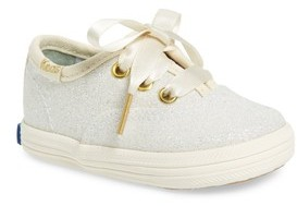 Keds Infant Girl's X Kate Spade New York Champion Glitter Crib Shoe