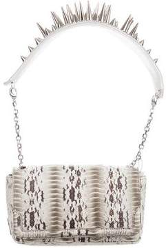 Christian Louboutin Watersnake Artemis Spiked Bag w/ Tags