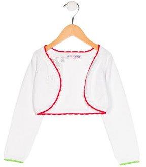 Agatha Ruiz De La Prada Girls' Open Front Long Sleeve Shrug w/ Tags