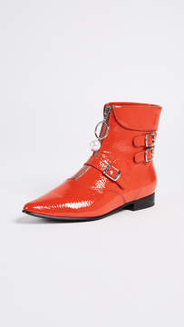 Opening Ceremony Slater Crackle Patent Booties