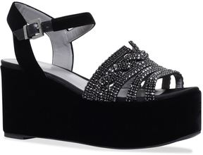 Gina Luzon EmbellishedWedge Shoes