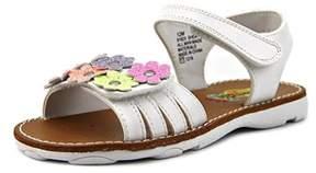 Rachel Shea Youth Open Toe Synthetic White Slides Sandal.