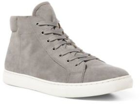 Ralph Lauren Dree Suede High-Top Sneaker Grey 11.5