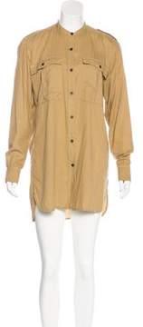 Dries Van Noten Mini Long Sleeve Shirtdress