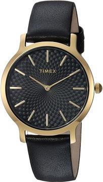 Timex Metropolitan Skyline Leather Strap Watches
