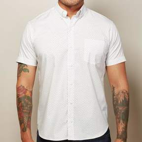 Blade + Blue White & Navy Mini Paisley Print Short Sleeve Shirt - PARKER