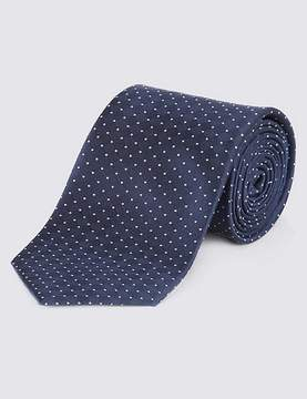 Marks and Spencer Pure Silk Spotted Textured Tie