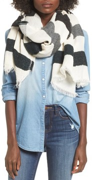 Sole Society Women's Textured Jacquard Scarf
