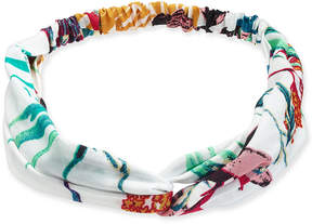 INC International Concepts I.n.c. Navy & Lemon Polka-Dot Fabric Headband, Created for Macy's