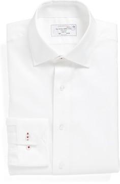 Lorenzo Uomo Men's Trim Fit Herringbone Dress Shirt